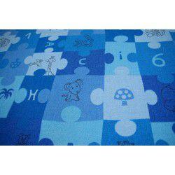 Teppichboden PUZZLE blau