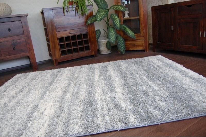 teppich shaggy zena 3383 grau wei. Black Bedroom Furniture Sets. Home Design Ideas