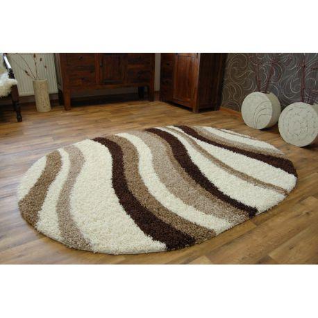 Teppich oval SHAGGY ZENA 2490 elfenbein  beige