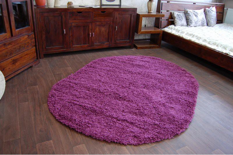 teppich oval shaggy galaxy 9000 violett. Black Bedroom Furniture Sets. Home Design Ideas