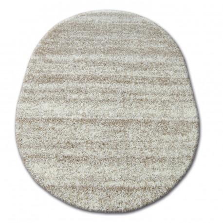 Teppich oval SHAGGY ZENA 3383 elfenbein  beige
