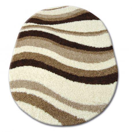 teppich oval shaggy zena 2490 elfenbein beige. Black Bedroom Furniture Sets. Home Design Ideas