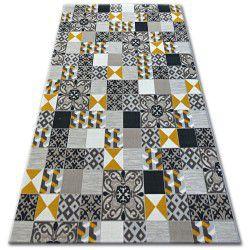 Teppich LISBOA 27218/255 Quadrate Platte Gelb Portugal