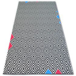 Teppich COLOR 19306/236 SISAL Diamanten Quadrate Schwarz