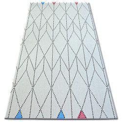 Teppich COLOR 19312/236 SISAL Diamanten Dreiecke Weiß