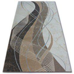 Teppich ARGENT - W4807 Wellen Sahne / Braun