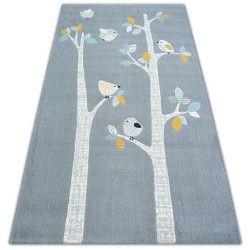 Teppich PASTEL 18405/072 - Vögel grau