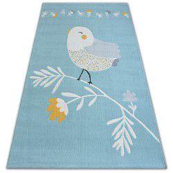 Teppich PASTEL 18404/032 - Vogel Blau