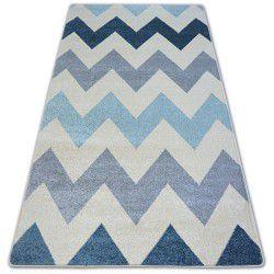 Teppich NORDIC Zickzack blau FA66
