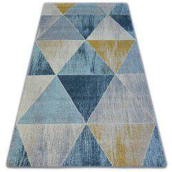 Teppich NORDIC TRIANGLE blau/creme G4584