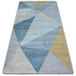 Teppich NORDIC SOLID creme/blau G4576
