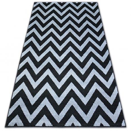 Teppich BCF BASE 3898 CIKCAK ZICKZACK schwarz/grau