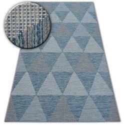 Teppich SISAL LOFT 21132 TRIANGLES elfenbein/silber/blau