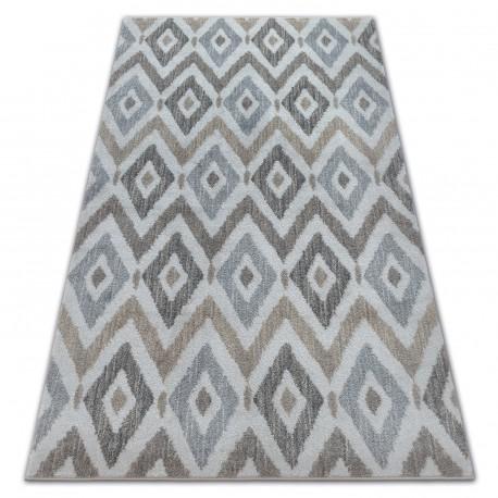 Teppich SOFT 6024 DIAMANTEN sahne / beige / braun