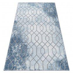 Teppich ACRYL VALENCIA 3951 HEXAGONE Blau/Grau