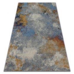 Teppich SOFT 6315 DUNST Hellgrau / Blau / Senf