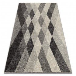Teppich FEEL 5674/16811 DIAMANTEN grau / anthrazit / creme