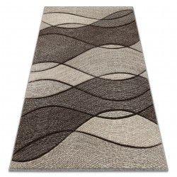 Teppich FEEL 5675/15011 WELLEN grau / anthrazit / creme