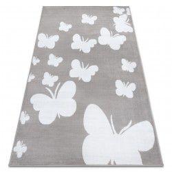 Teppich BCF ANNA Butterfly 2650 Schmetterlinge grau