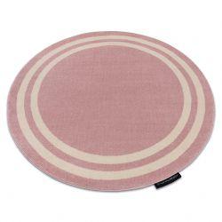 Teppich HAMPTON Rahmen Kreis rosa