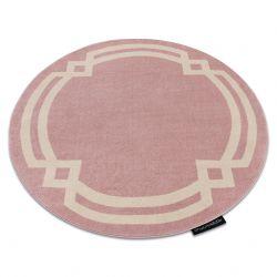 Teppich HAMPTON Lux Kreis rosa