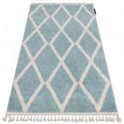 Teppich BERBER TROIK A0010 blau / weiß Franse berber marokkanisch shaggy