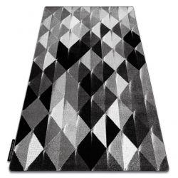 Teppich INTERO PLATIN 3D Dreiecke grau