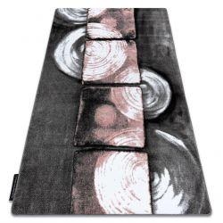 Teppich INTERO PHONO 3D Quadrate rosa