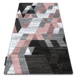 Teppich INTERO TECHNIC 3D Diamanten Dreiecke rosa