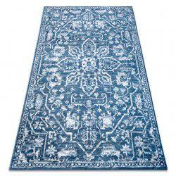Teppich RETRO HE184 blau / sahne Vintage