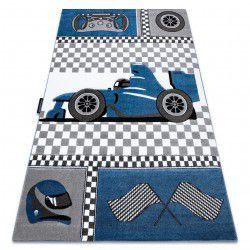 Kinderteppich PETIT RACE FORMULA 1 BOLID AUTO blau