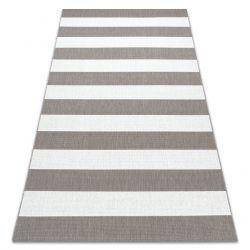 Teppich FLAT SISAL 48644686 Streifen weiß beige