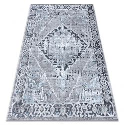 Teppich Structural SIERRA G6038 flach gewebt grau - Rosette