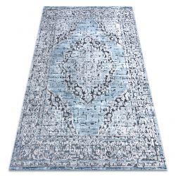 Teppich Structural SIERRA G8076 flach gewebt blau / grau - Rosette