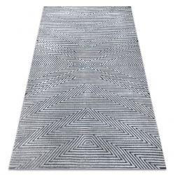 Teppich Structural SIERRA G5013 flach gewebt grau - ZigZag, ethnisch
