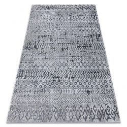 Teppich Structural SIERRA G6042 flach gewebt grau - geometrisch, ethnisch