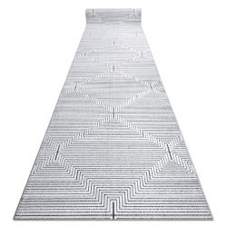 Läufer Structural SIERRA G5018 flach gewebt grau - Streifen, Diamanten
