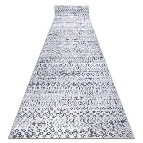 Läufer Structural SIERRA G6042 flach gewebt grau - geometrisch, ethnisch