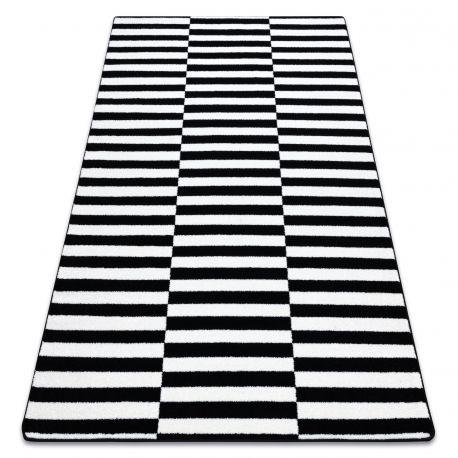 Teppich SKETCH - F132 weiß/schwarz - Streifen