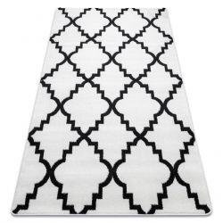 Teppich SKETCH - F343 weiß/schwarz trellis