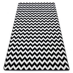 Teppich SKETCH - F561 weiß/schwarz - Zickzack