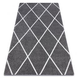 Teppich SKETCH - F728 grau /weiß trellis - Diamanten