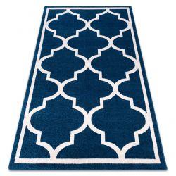 Teppich SKETCH - F730 blau/weiß trellis