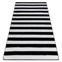 Teppich SKETCH - F758 weiß/schwarz - Streifen