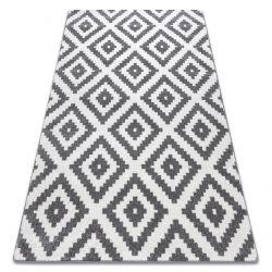 Teppich SKETCH - F998 weiß/grau - Quadrate