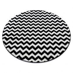Teppich SKETCH ring - F561 schwarz/weiß - Zickzack