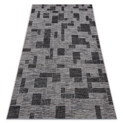 Teppich SISAL LOFT 21107 Geometrisch silber schwarz/grau