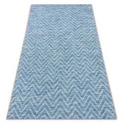 Teppich SISAL LOFT 21146 Zickzack blau /elfenbein / silber