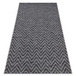 Teppich SISAL LOFT 21146 Zickzack silber schwarz/grau