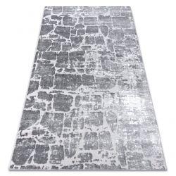 Modern Teppich MEFE 6184 Pflasterung Backstein - Structural zwei Ebenen aus Vlies dunkelgrau
